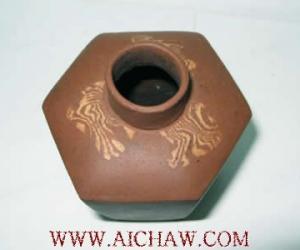 明代嘉靖早期绞胎茶叶盖罐
